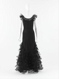 "Evening dress, 1932, House of Chanel, Gabrielle ""Coco"" Chanel, French, silk"