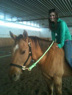 Amanda riding Deuce