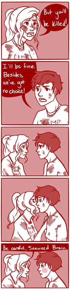 cookiekhaleesi: Aww their first kiss right before Percy gets attacked by monsters and a volcano blows up so romantic