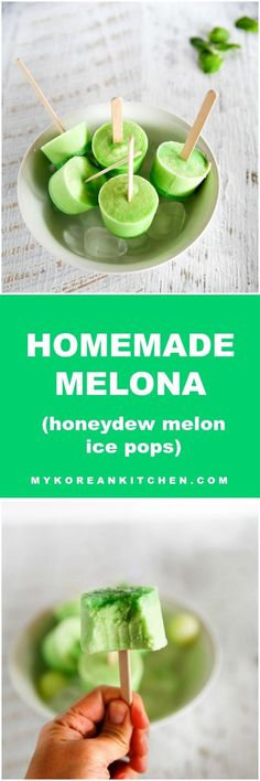 Make a popular Korean popsicle – Melona bar from your home! It takes less than 10 minutes to assemble! Easy & delicious!   MyKoreanKitchen.com