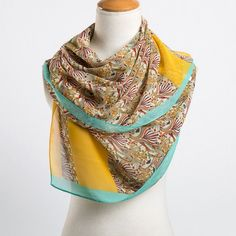 Long Chiffon Silk Scarf 13 Colors