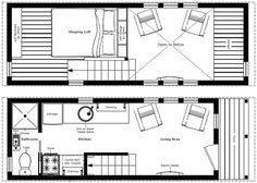 Humble Homes Tiny House Plans - wow, I think this is a great one.... steps instead of a ladder to the loft - much better for me.