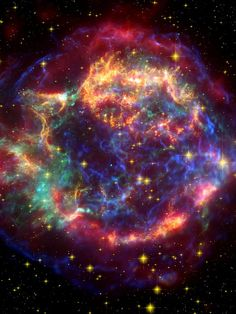 The Cassiopeia A supernova remnant provides new details about the mechanisms powering these brief stellar beacons (NASA/JPL-Caltech)