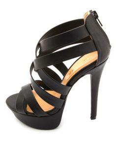 Crisscrossing Strappy Platform Heels: Charlotte Russe