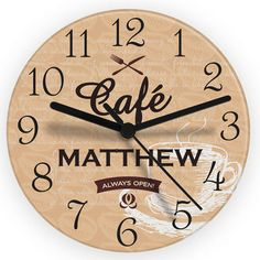 Personalised Bistro Style Glass Kitchen Clock #kitchengiftco