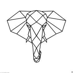 Polygonal Elephant wall decal / Elephant Head decal / Polygon Elephant / Geometric Elephant / Polygon Elephant decal / Elephant Face Polygonal Elephant wall decal / Elephant decal / Polygon Elephant / Geometric Elephant / Polygon E Geometric Line Tattoo, Geometric Drawing, Geometric Lines, Geometric Wall, Geometric Designs, Geometric Animal, Geometric Elephant Tattoo, Elephant Stencil, Geometric Flower