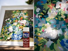 DIY paint by number. AWESOME!