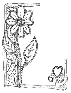 Zenspirations doodle inspiration by sherrie Doodle Zen, Tangle Doodle, Doodles Zentangles, Zentangle Patterns, Doodle Inspiration, Art Journal Inspiration, Doodle Borders, Flower Doodles, Doodle Drawings