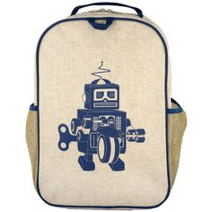 SoYoung Blue Robot Grade School Backpack