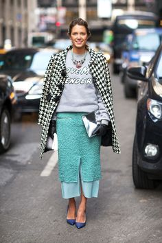 Make a statement: LOVE ME TENDER #trending #NYFW #Fall2014 #streetstyle