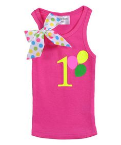 Hot Pink Polka Dot 'One' Tank - Infant & Toddler