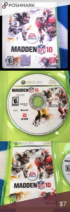 Selling this NFL Madden 10 Xbox 360 on Poshmark! My username is: icesis22. #shopmycloset #poshmark #fashion #shopping #style #forsale #Xbox 360 #Other
