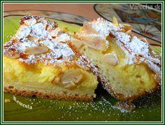 Kysnutý koláč s tvarohom a jablkami