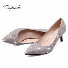 Find More Women's Pumps Information about Fall 2015 new women's suede rhinestone comfortable 6cm low heels wedding dress shoes design sexy pointy high heels,High Quality shoes small heels,China shoes with detachable heels Suppliers, Cheap shoe inserts for heels from Toptrade Co.,ltd on Aliexpress.com