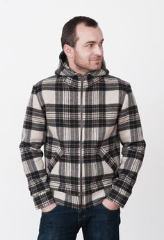 Mens Jackets – Checked Wool mens jacket. – a unique product by mmhm on DaWanda