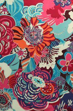 Barcelona fabric by Alexander Henry Textile Prints, Textile Patterns, Textile Design, Print Patterns, Art Prints, Modern Patterns, Painting Patterns, Motif Floral, Floral Design