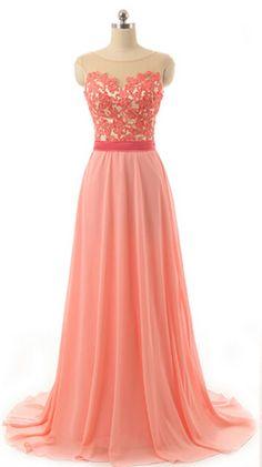 prom dress, lace prom dress, chiffon prom