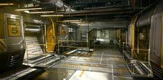Ocean Base Belltower Corridor Deus Ex 3 The Missing Link DLC Concept by Eric Gagnon