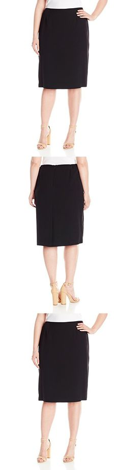 Edwards Garment Womens Lightweight Skirt Black 18 R