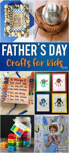 Father's Day Crafts for Kids: Fathers Day Preschool Ideas, Elementary Ideas and More on Frugal Coupon Living. Gift Ideas for Dad.