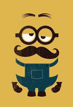 Minions and mustaches are sooo cute