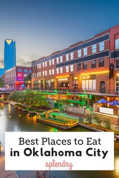 Don't waste a meal on mediocre food! If you find yourself Oklahoma, these are the best restaurants in OKC! Oklahoma City Restaurants, New York Travel, Travel Usa, Bricktown Oklahoma City, Kansas City, Oklahoma City Things To Do, Downtown Okc, Travel Oklahoma, Paisajes