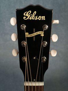 Gibson J-35 Banner Acoustic Guitar -Headstock