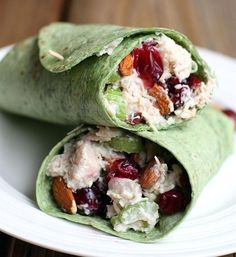 11. Turkey Cranberry Almond Wrap #lunch #wraps #recipes http://greatist.com/eat/healthy-lunch-ideas-quick-and-easy-wraps