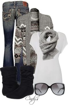"""""""Funky Cardigan"""" by cindycook10 on Polyvore"""