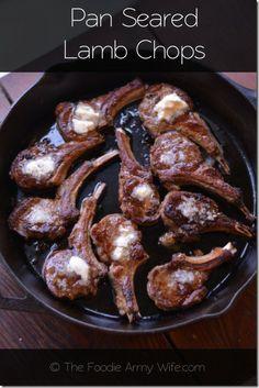 Pan Seared Lamb Chops