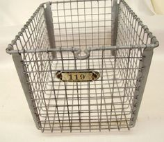 We used these at the public swimming pool to store our belongings. You were given a pin with the basket number that you pinned to your swim suit.