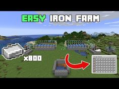 Working Iron farm for Java & Bedrock versions I hope you all enjoy and I hope it helps you all in your world! This currently works for Java versio. Minecraft Redstone Creations, Minecraft Iron, Minecraft Cheats, Minecraft Farm, Easy Minecraft Houses, Minecraft House Tutorials, Minecraft Plans, Minecraft Decorations, Amazing Minecraft