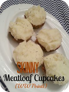 The Better Baker: Skinny Meatloaf Cupcakes (Topped with Mashed Taters)(WW Points)