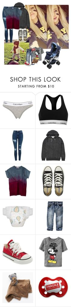 """Jemma and Carter"" by mad-die-hatter ❤ liked on Polyvore featuring Calvin Klein Underwear, Calvin Klein, Topshop, Billabong, Converse, Gap, Old Navy, Equipment and Carter's"