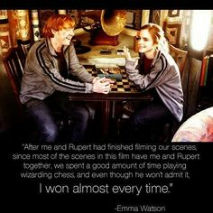 I bet she did because... EMMA WATSON IS BAE! Harry Potter fans, comment if you agree and like it!