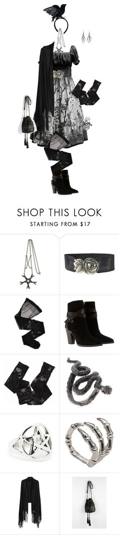 """Rufflebutts Challenge 090: Sleeping Garden"" by sakuuya ❤ liked on Polyvore featuring Evil Twin, Wolford, Mint Velvet, Urstadt.Swan, Bernard Delettrez, Valentino and Sabrina Tach"