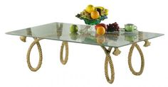 Tisch Tau Glasplatte