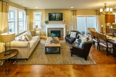 The Toulouse Living Room at Polygon at Villebois in Wilsonville, OR #PolygonNWHomes #PolygonOR