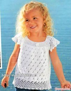 ИСТОЧНИК - http://domihobby.ru/  Ажурная летняя кофточка для девочки связана…