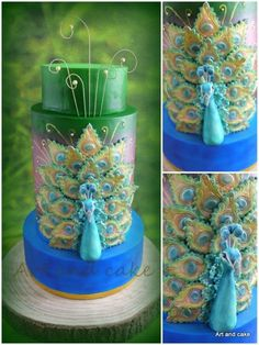 Peacock cake by Marja from Cakes Decor.