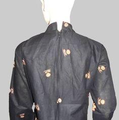 Baju Batik Tunik Hitam [1165] Belakang