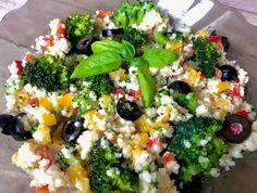 Lekka sałatka z kaszą kuskus i brokułem - Blog z apetytem