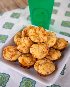 Pimento Cheese Muffins {The Masters} - pimento cheese baked into yummy muffins. Great as a snack, breakfast for with dinner.