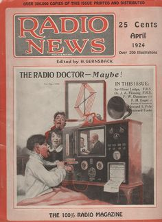 Radio News cover - April 1924