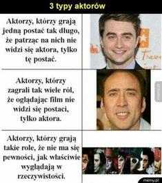 Kocham każdego z tych aktorów 😍 Wtf Funny, Funny Cute, Hilarious, Take A Smile, Polish Memes, Funny Mems, I Cant Even, Book Quotes, Funny Photos