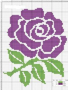 Broderies simples de roses et fleurs grilles & tutos