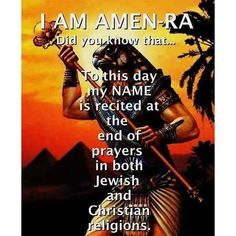 Amen ra in Christianity prayers Amen Ra, Christian Religions, Christian Mysticism, African Royalty, Black History Facts, Bible Knowledge, World Religions, Atheism, African American History