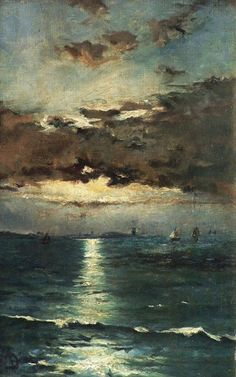 i really like this painting .Alfred Stevens: Seascape (via libraryinatower) Alfred Stevens, Art Amour, Arte Van Gogh, Art Gallery, Oeuvre D'art, Love Art, Painting Inspiration, Landscape Paintings, Landscapes