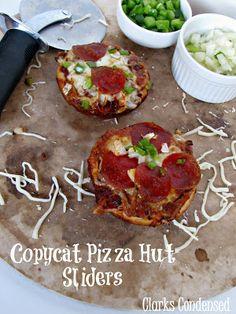 Copycat Pizza Hut Sliders and Pizza Hut Pizza Sauce #ClarksCondensed #Pizza