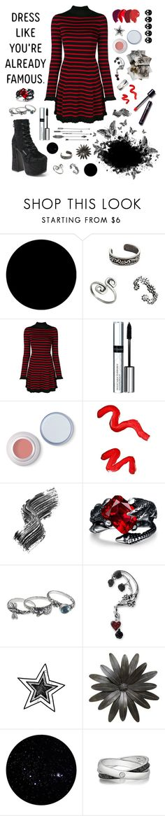 """""""Untitled #218"""" by stopcallinme ❤ liked on Polyvore featuring Wall Pops!, RED Valentino, By Terry, Topshop, Illamasqua, NOVICA and Kenny & Co."""